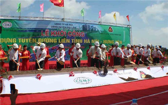 Dự án đổi đất lấy hạ tầng đường BT liên tỉnh Hà nội - HưngYên (tham gia cổ đông)